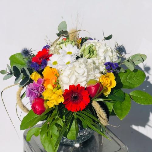 Bouquet fleurs colorées atelier floral 64