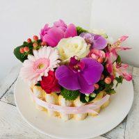 Atelier Floral 64 composition florale gâteau