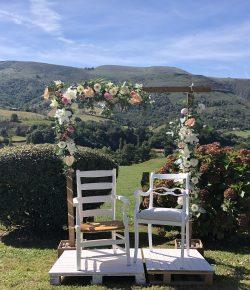 Atelier Floral 64 Arche fleurie cérémonie laïque