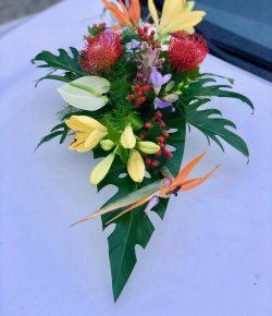 Atelier floral 64 décoration florale voiture